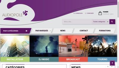 Site internet de Audiopole