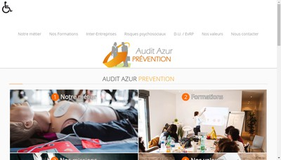 Site internet de Audit Azur Prevention