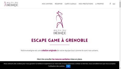 Site internet de Au Fil du Dedale