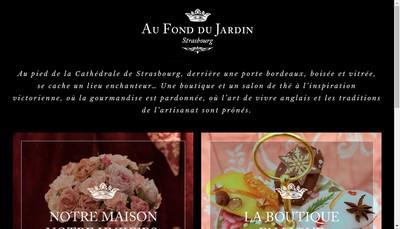 Site internet de Au Fond du Jardin