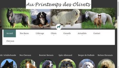 Site internet de Du Printemps des Olivets