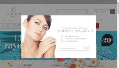Site internet de Auriege Paris