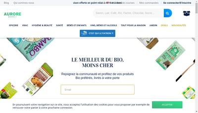 Site internet de Aurore Market