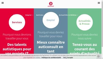 Site internet de Auticonsult (France) SAS