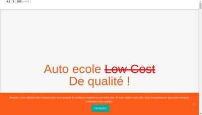 Site internet de Auto Ecole Republik
