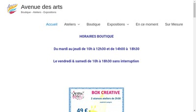 Site internet de Avenue des Arts Kitt la Fee