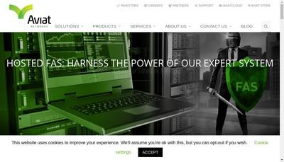 Site internet de Aviat Networks France