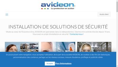 Site internet de Avideon