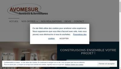Site internet de Avomesur Fenetres et Fermetures