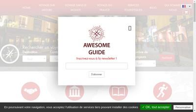 Site internet de Awesome Guide
