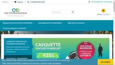 Site internet de Axe Environnement