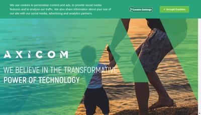 Site internet de Axicom Axiom Communications