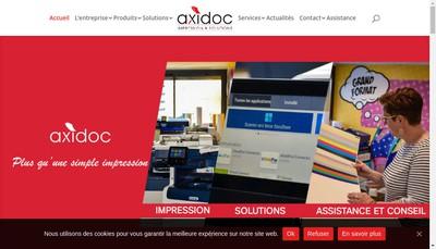 Site internet de Axidoc 11
