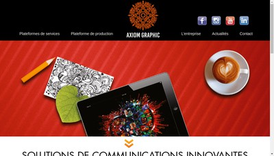 Site internet de Groupe Axiom