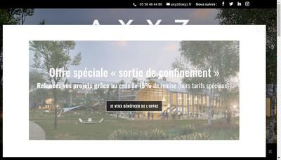 Site internet de Axyz