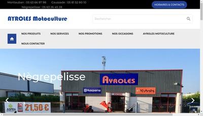 Site internet de Ayroles Caussade