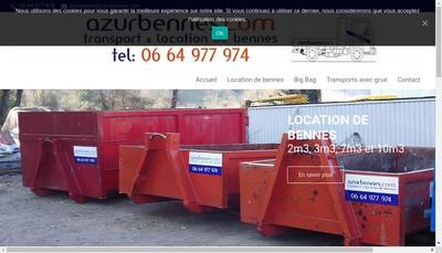 Site internet de Azur Bennes