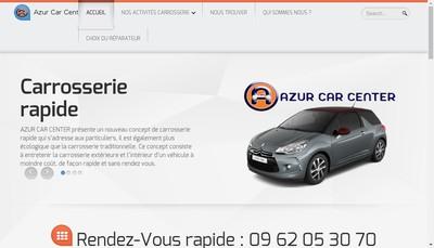 Site internet de Azur Car Center
