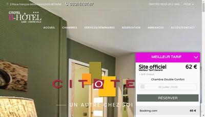 Site internet de B Hotel