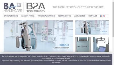 Site internet de Ba Healthcare