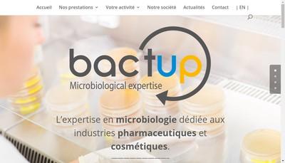 Site internet de Eurofins Bactup