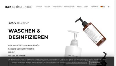 Site internet de Bakic Packaging