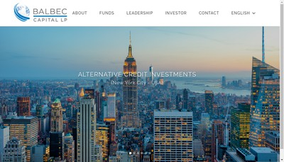 Site internet de Balbec Asset Management