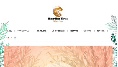 Site internet de Bandha Yoga Paris