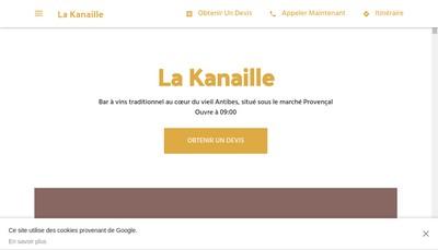 Site internet de La Kanaille
