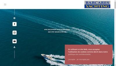 Site internet de Barcares Yachting