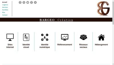 Site internet de Bargeo Creation