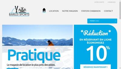 Site internet de Barles Sports la Sapiniere