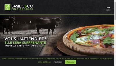 Site internet de Basilic & Co