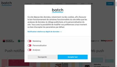 Site internet de Batch