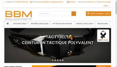 Site internet de Bbm Equipement
