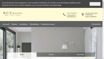 Site internet de Bct Immobilier