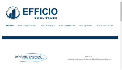 Site internet de Efficio