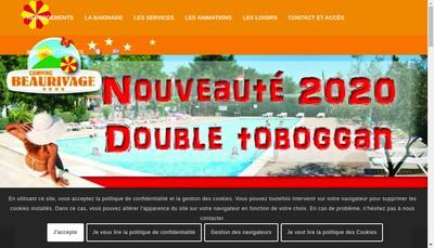 Site internet de Camping Beau Rivage
