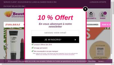 Site internet de Beauty Discount