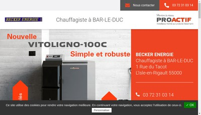 Site internet de Becker Energie