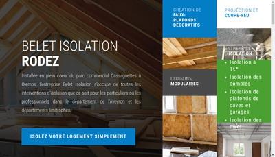Site internet de Belet Isolation Rodez