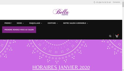 Site internet de Bella Express