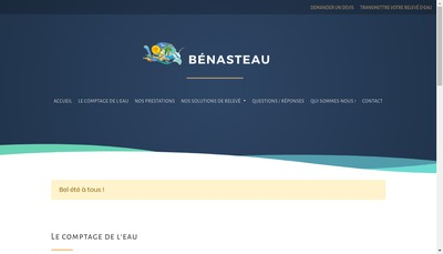 Site internet de Etablissements Benasteau Immobiliere
