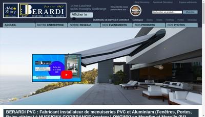 Site internet de Berardi Pvc