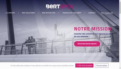 Site internet de Bert Developpement