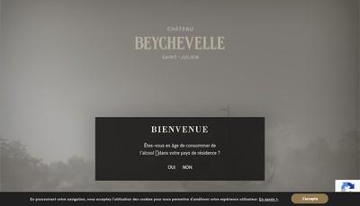 Site internet de Chateau Beychevelle