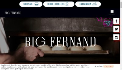 Site internet de Big Fernand