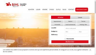 Site internet de Bihl Immobilier et Syndic