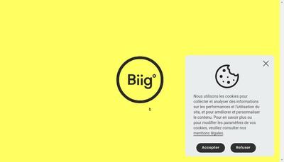 Site internet de Biig