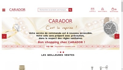 Site internet de Bouldoires Bijoutiers